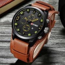 Relogio Masculino мужские s часы лучший бренд класса люкс кожаный ремешок водостойкие спортивные мужские кварцевые часы военные мужские часы DOOBO 8225