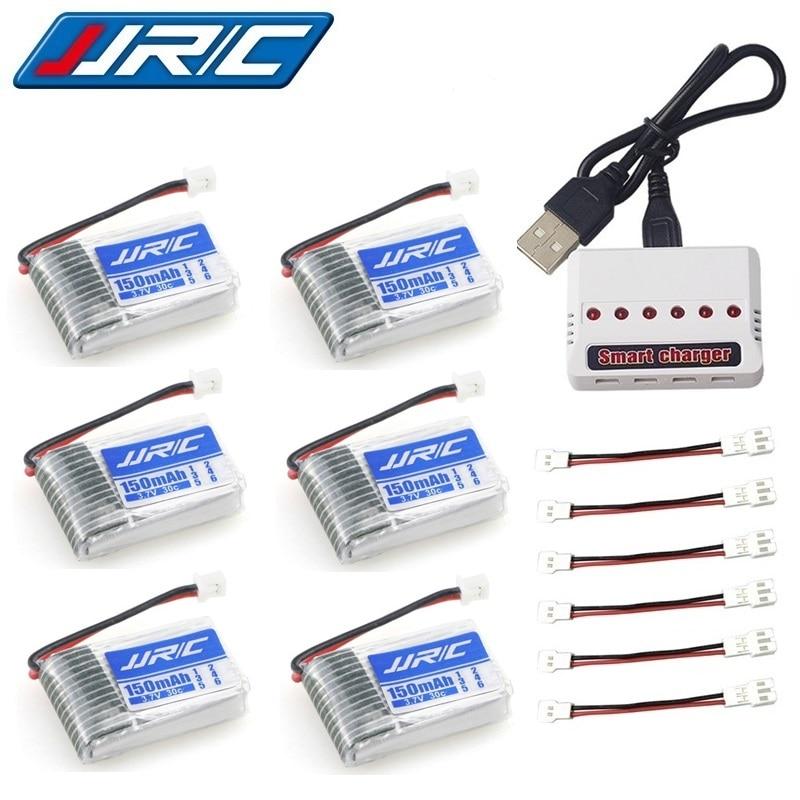 Bateria original 3.7 v 150 mah de jjrc h20 para jjrc h20 syma s8 m67 u839 rc quadcopter parte 3.7 v lipo bateria e carregador (6 em 1)