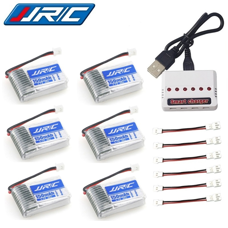Original JJRC H20 Battery 3.7V 150mAh For JJRC H20 Syma S8 M67 U839 RC Quadcopter Parts 3.7V Lipo Battery And Charger (6 IN 1)