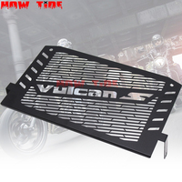 Black Motorcycle Accessories Radiator Guard Protector Grille Grill Cover For Kawasaki VULCAN S 15 16 VULCAN 650 Free shipping