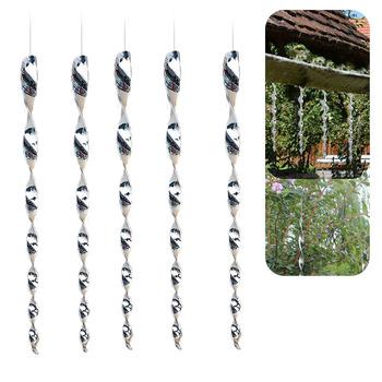 4 sztuk przenośne wiszące ptak przestraszyć pręt zewnątrz odstraszający spiralna konstrukcja dekoracji ogród gołębie środek odstraszający odblaskowe ochrony upraw tanie i dobre opinie TISHREEN 其它