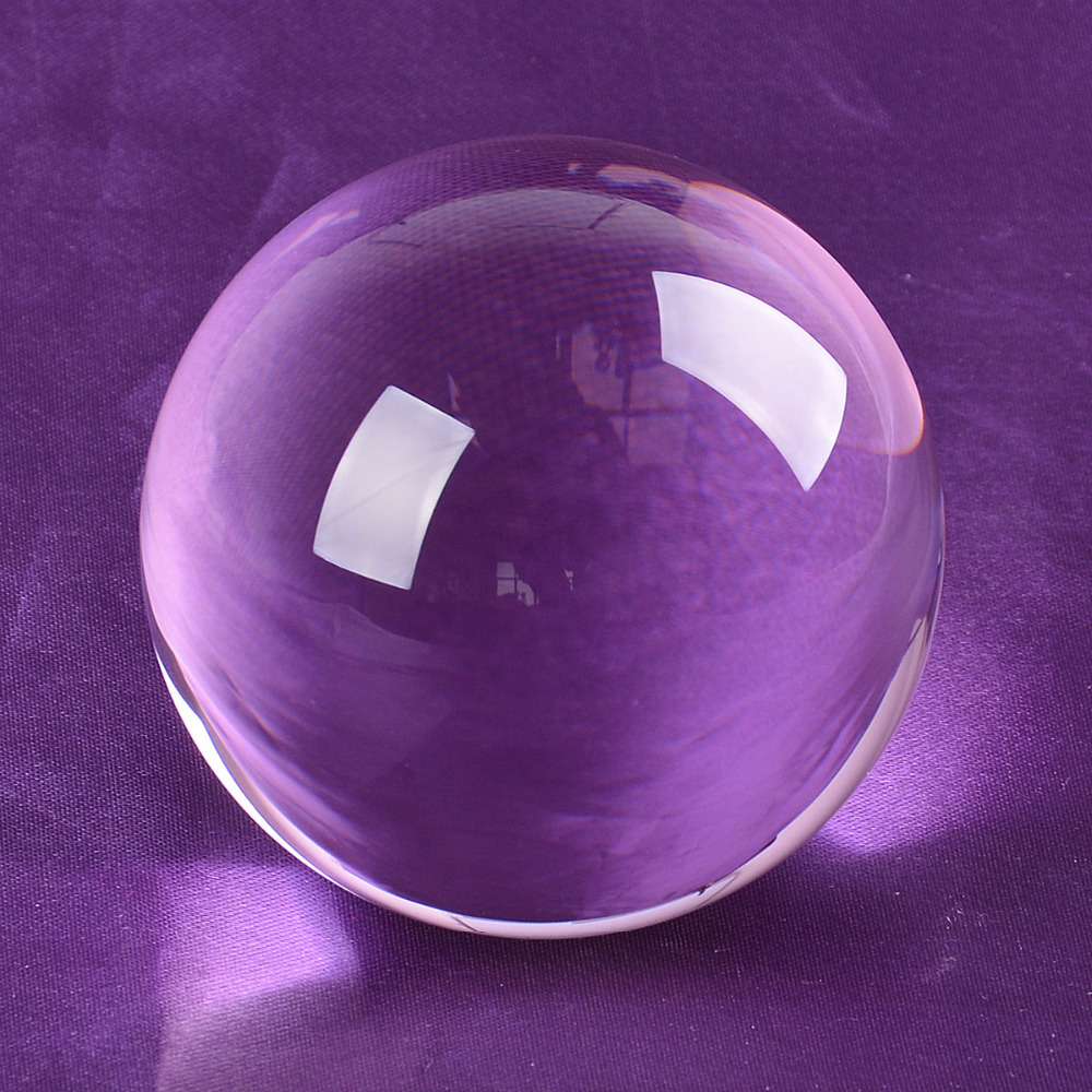 Ship From USA 80mm Rare Purple Asian Quartz Feng Shui Ball Crystal - Home Decor - Photo 4
