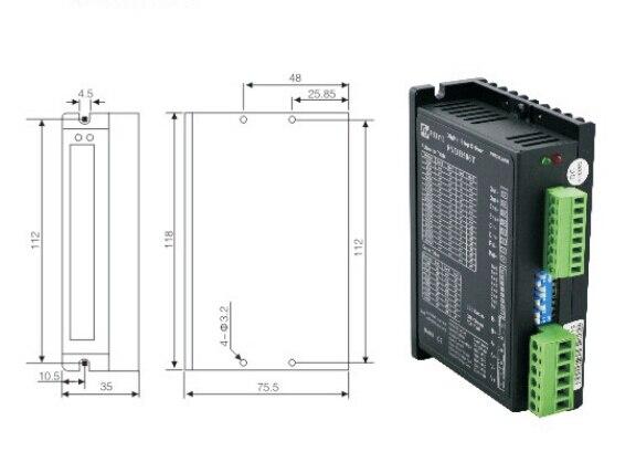 Due fasi driver del motore passo-passo ibridi di controllo dsp 24-50 v 1.5-5.6a 25600 segmenti 2 mhz pul inputiDue fasi driver del motore passo-passo ibridi di controllo dsp 24-50 v 1.5-5.6a 25600 segmenti 2 mhz pul inputi