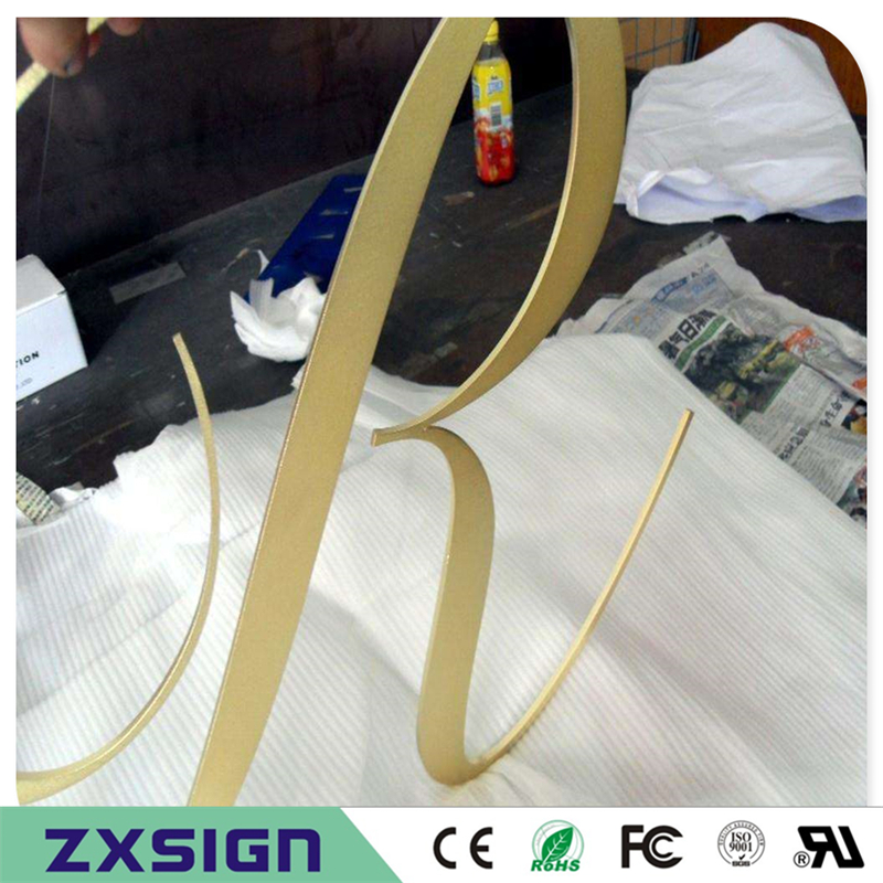 Factory Outlet 2mm Thick Solid Brushed / Mirror Polished /golden Color Stainless Steel Letters