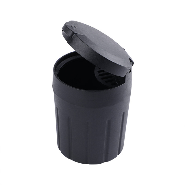 Mini Car Trash Bin Auto Portable Vehicle Black Rubbish Can Trash Dustbin Garbage Car Storage Box For Car Ashtray Car Accessories