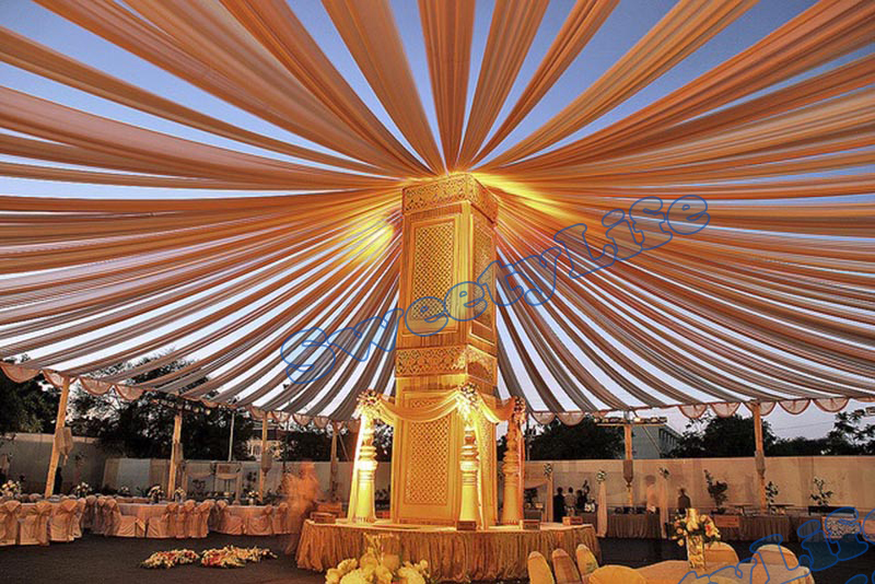 Wedding 12 pieces Ceiling Drape Canopy Drapery for decoration Gold Roof decoration Banquet supply