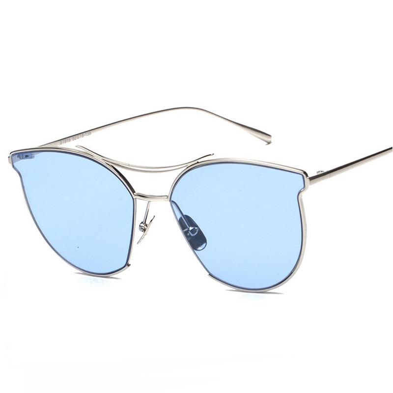 New Cat Eye Sunglasses For Women Men Brand Designer Twin-Beam Sun Glasses Summer Style Vintage Female Sunglass oculos de sol фото