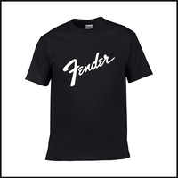 ress up handsome new fashion summer 2019Fender printed fender high quality casual comfort 100% cotton shirt short sleeve men's T