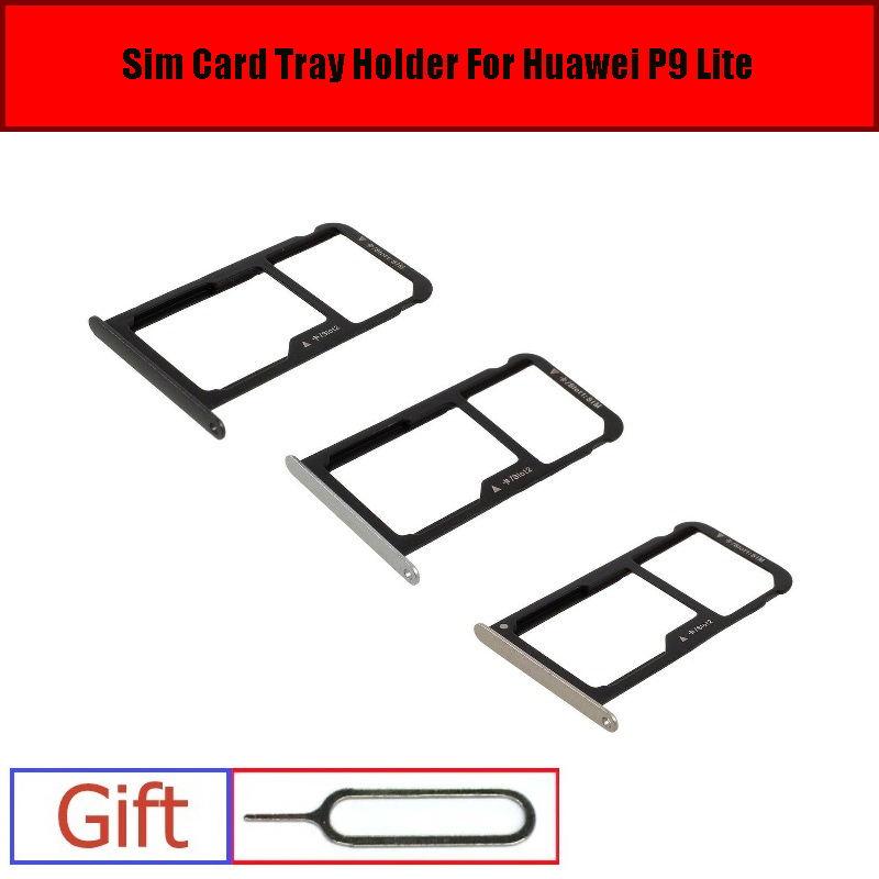 huawei p8 lite carte sd ᗚSim&Micro SD Card Tray Holder For Huawei P9 Lite G9 VNS L21 L22