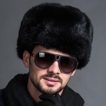 Moda zimowa rosyjskie czapki czapki męskie męskie ciepłe futrzane czapki Bomber mocno poszerzone czapki nauszne Leifeng solidne czapki śnieżne cieplej tanie i dobre opinie ezchii Dla dorosłych Bomber Hats Kapelusze bomber Stałe Faux futra