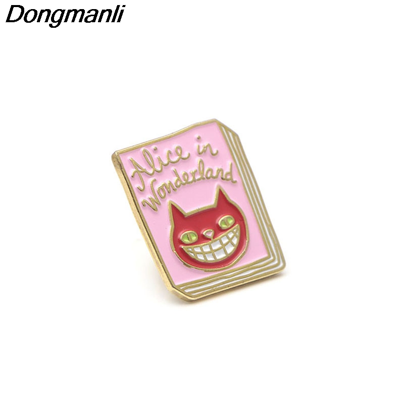 Costume Jewellery Cheshire Cat Alice In Wonderland Enamel Pin Brooch Bag Jacket Backpack Cute Gift