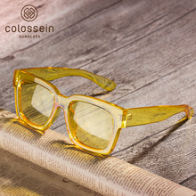 COLOSSEIN Sunglasses Women Fashion Oversized Square Frame Colorful Lens Popular Adult Summer Glasses 2018 New Trend for Women