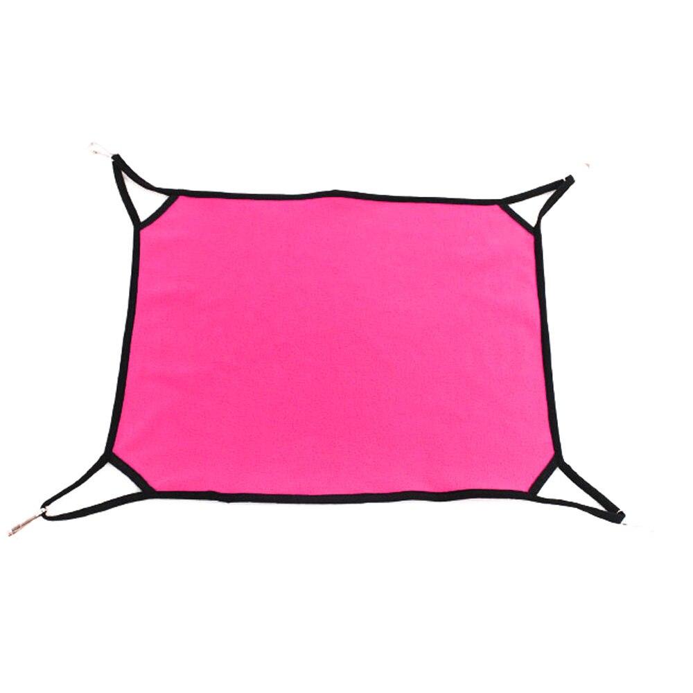 Кошка гамак кроватка кровать для домашних животных кровать теплая мягкая ткань прочный - Цвет: rose red