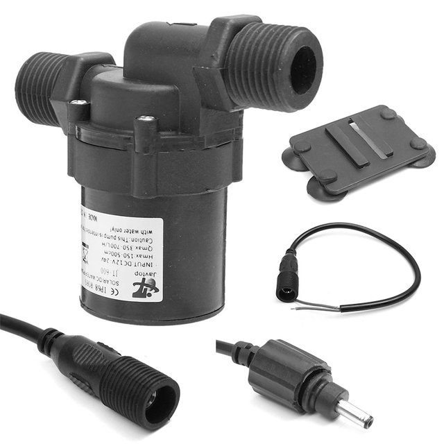 DC 24V 5M 700L/H Hot Water Circulation Pump Brushless Motor Pool Water Pump Solar For Hardware Tools