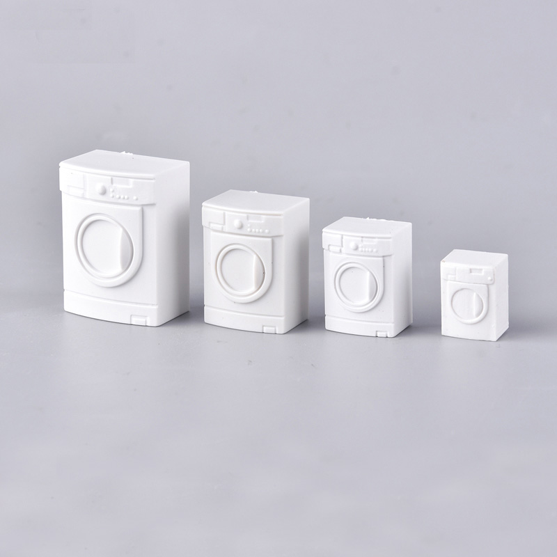 10pcs/lot 1/20 1/25 1/50 Modeling Washing Machine Dollhouse Furniture Simulation Bathroom Model Toy For Doll House Decoration
