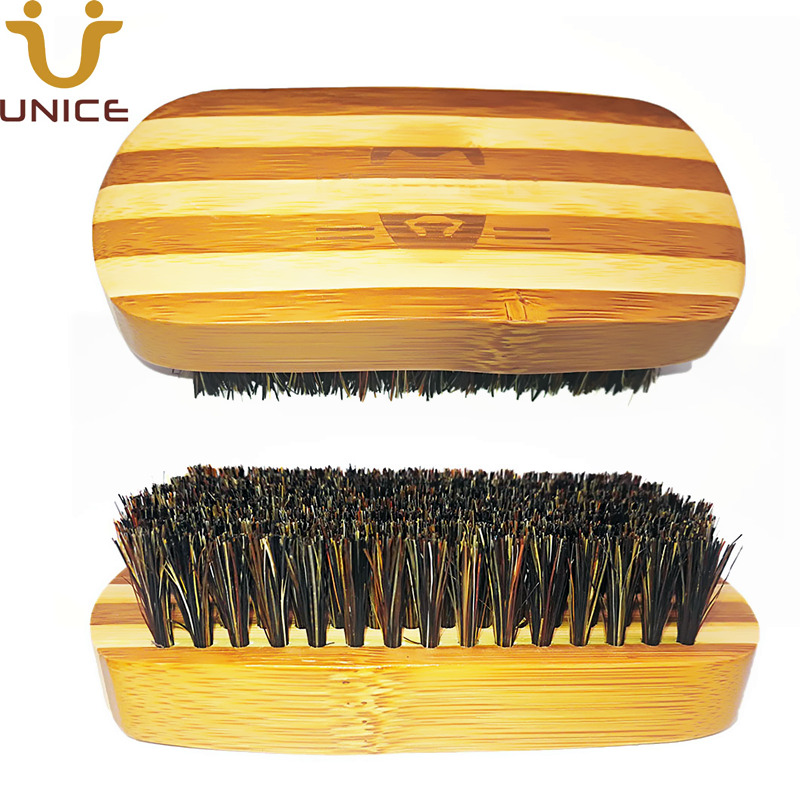 Aspiring 100pcs/lot Your Logo Customized Bamboo Beard Brush With Boar Bristle Custom Carve Logo Name Men Grooming Brush Barber Shop Tools Beauty & Health