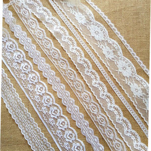 10 yards Embroidered Net white black Lace Trim ribbon fabric Garment headband wedding party decoration gift DIY Accessories