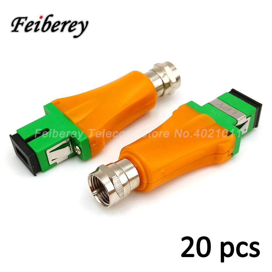 20 teile/los Mini Passive FTTH Optische Empfänger ohne Netzteil SC/APC Eingang RF Weibliche Zoll Ausgang CATV Optische knoten für CATV