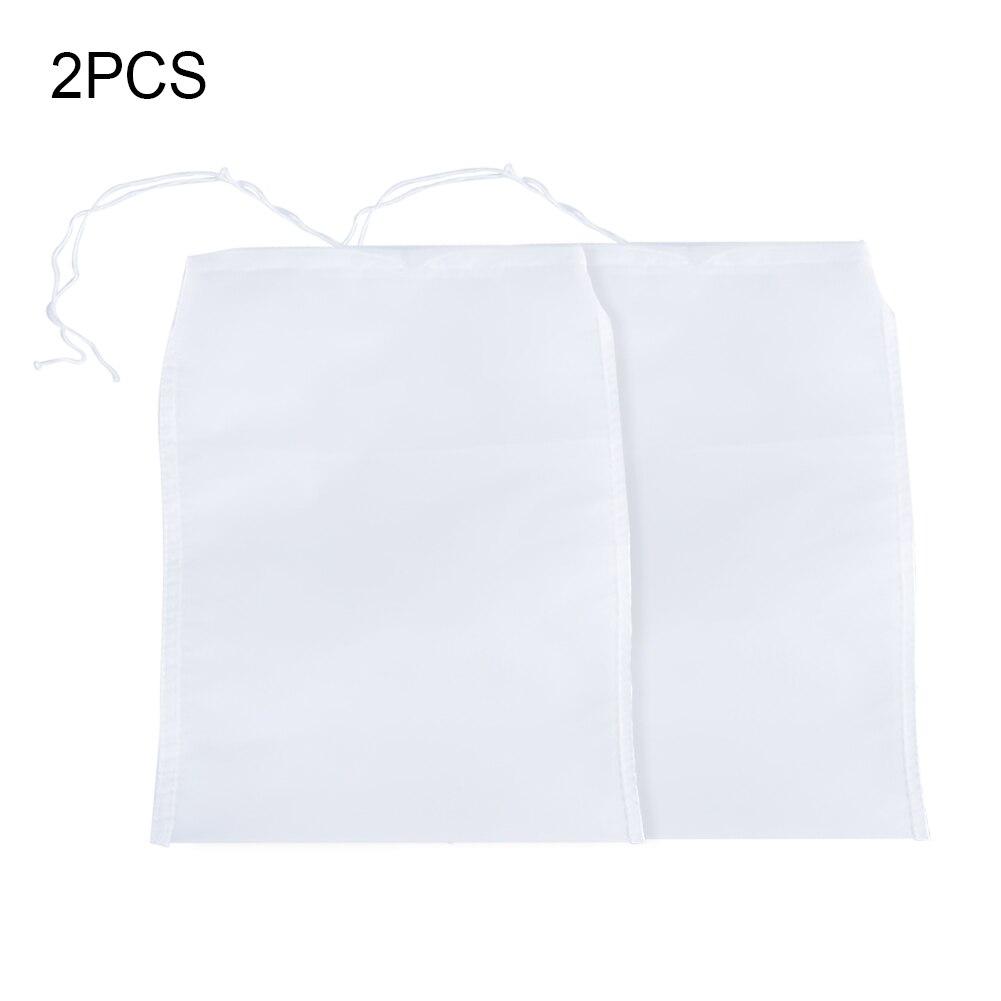 2Pcs Multifuction Nylon Mesh FilterNet Tea Nut Fruit Juice Milk Net Strainer Bag