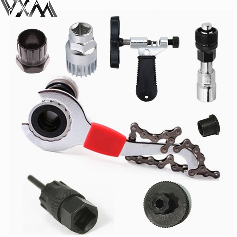 VXM Mountain Bike Repair Tool Kits MTB Bicycle Tools Chain Cutter Axis Flywheel Tool Bike BB crank Repair tools bicycle parts
