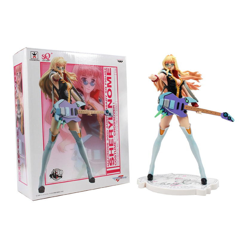 22CM 1/7 Genuine Sega Macross F 30th Anniversary Commemorative Edition Sheryl Noam  PVC Action Figure with Box sega