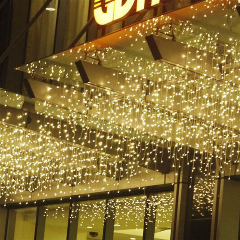 cheapest Christmas Garland LED Curtain Icicle String Light 220V 5m 96Leds Indoor Drop LED Party Garden Stage Outdoor Decorative Light