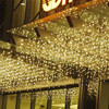 Christmas Garland LED Curtain Icicle String Light 220V 5m 96Leds Indoor Drop LED Party Garden Stage Outdoor Decorative Light discount