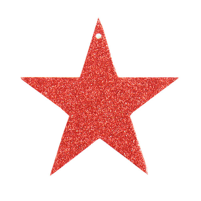7cm 6pcs christmas tree decorative stars ornaments christmas decorations paper glitter sequins christmas star pentagram pendant
