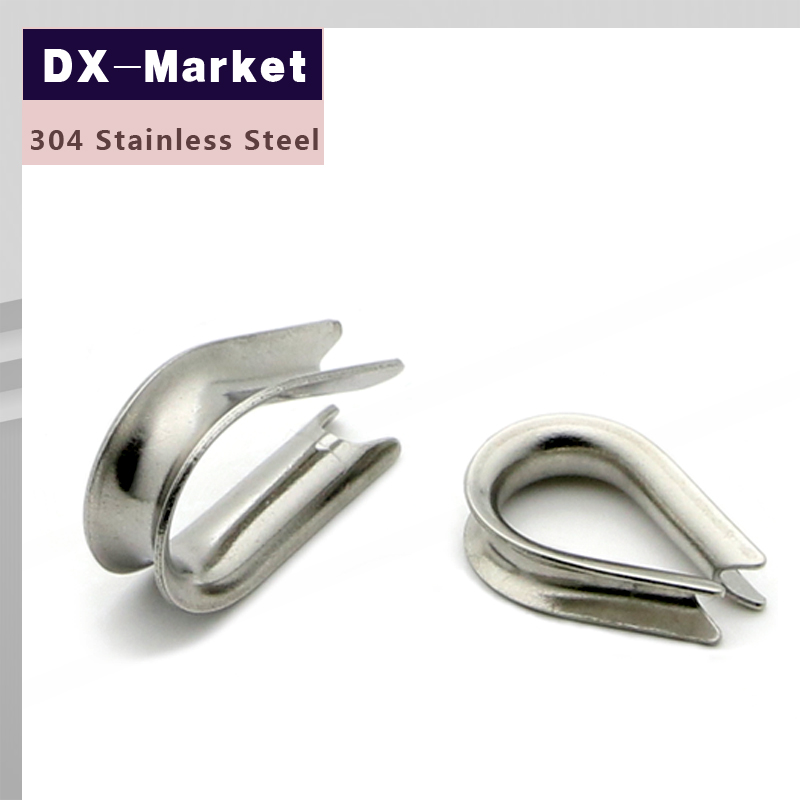 2mm wire rope thimble , 20pcs/lot , 304 stainless steel Cable ...