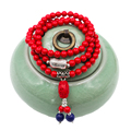 High quality accessories bracelets 108 beads Natural stone cinnabar bracelets beeswax jewellery  bracelet bangles  free shipping
