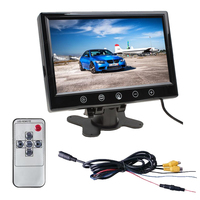 New 7 Inch Digital Color TFT LCD With 2 Video Input LCD Rearview Car Monitors For
