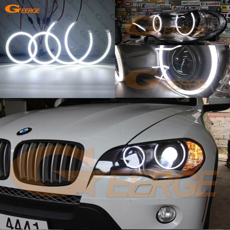 Для BMW X5 e70 2007 2008 2009 2010 2011 2012 2013 ксенон отличное Ультра яркое освещение smd led Ангельские глазки комплект DRL