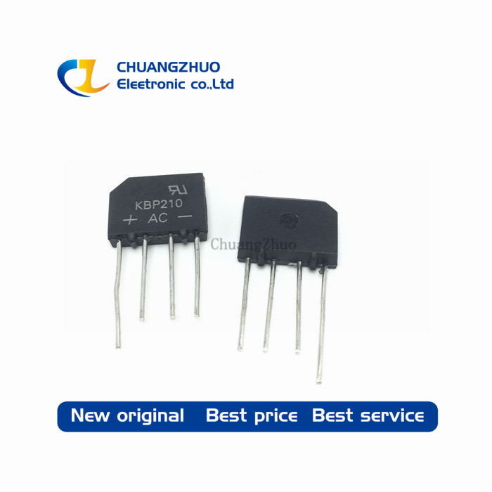 10PCS Bridge Rectifier Diode KBP210 KBP 210 2A 1000V Bridge Rectifier Free Shipping