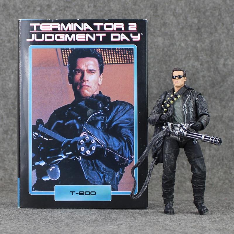 17cm NECA The <font><b>Terminator</b></font> <font><b>2</b></font> T-800 <font><b>Action</b></font> <font><b>Figure</b></font> <font><b>Pescadero</b></font> Judgment Day <font><b>Hospital</b></font> Doll PVC Model Toy