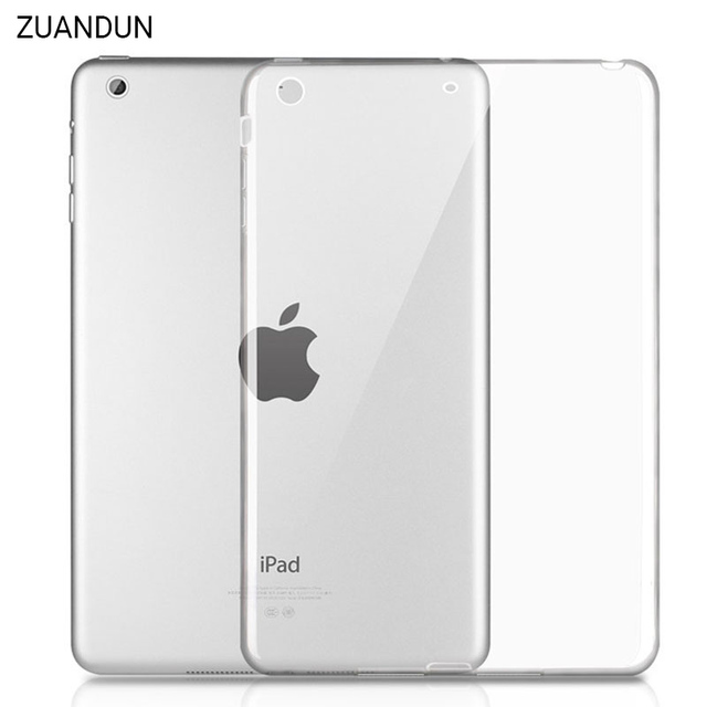 on sale 99ddf 7e4f2 US $4.99 |For iPad 2018 Case Transparent Soft Silicone TPU Protective Cover  For iPad 2 3 4 Air 1 Air 2 Mini For iPad 2017 A1822 A1893 Case-in Tablets  ...