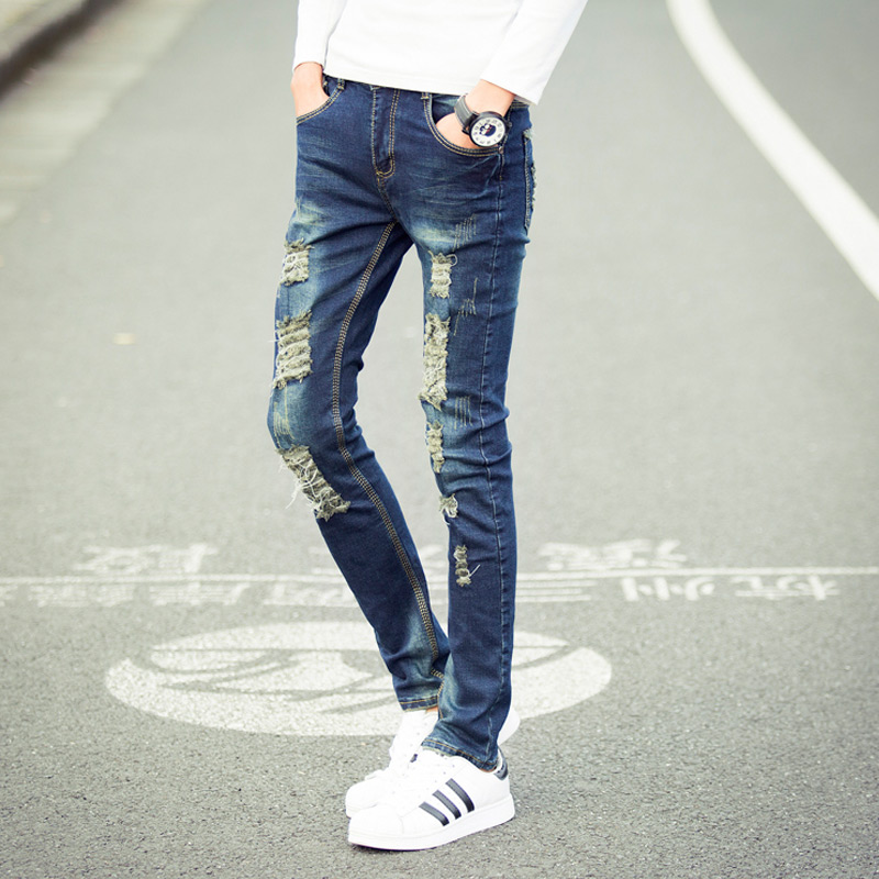 Aliexpress.com : Buy 2017 New Fashion Mens Jeans Hole Jeans High ...