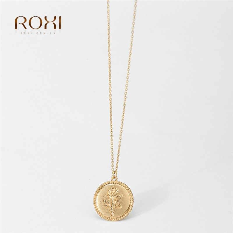 2018 רב נשים חרוזים ירוק אבן קסם קולר שרשרת זהב עגול מטבע שרשרת תכשיטי collana Bijoux Femme mujer קולייר Z4