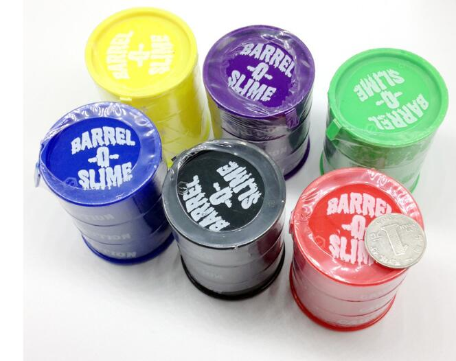 Colors <font><b>Slime</b></font> Toy Lizunov Toy Clear Clay <font><b>Barrel</b></font> <font><b>Slime</b></font> Glue Oil Crystal DIY For Kids Lizun image
