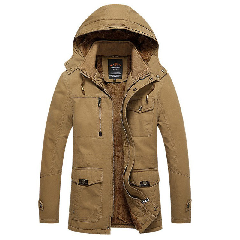 Winter Jacket Men Casual Cotton Thick Warm Jackets Men's