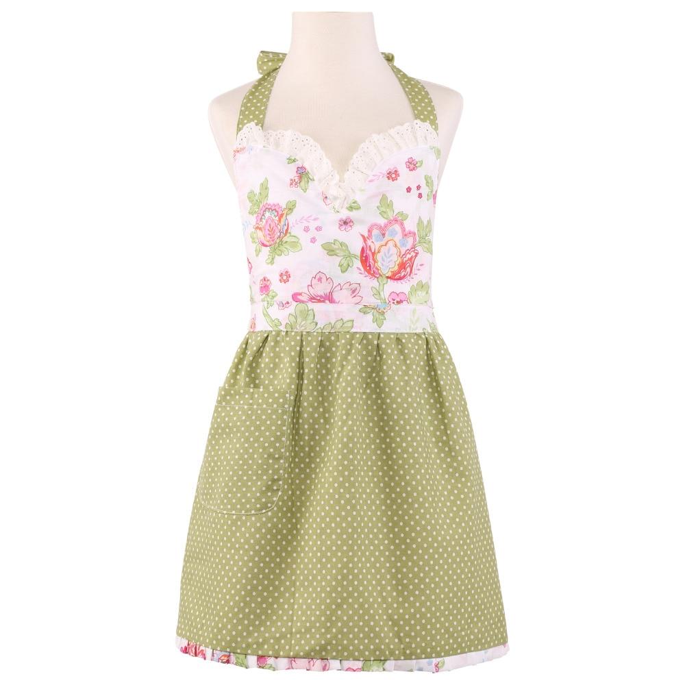 Plain white apron toronto - Neoviva Cotton Kids Apron For Play Kitchen With 2 Layers Style Hortensia Floral Lettecuce
