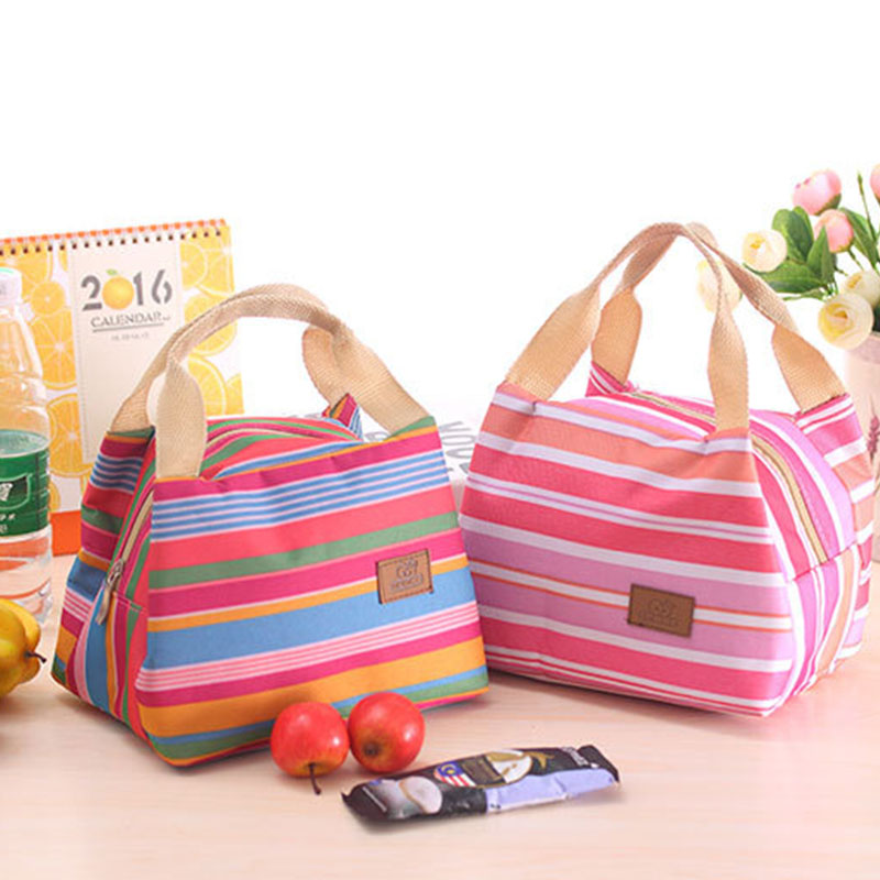 2018 the new Fashion Portable Insulated Canvas lunch Bag Thermal Food Picnic Lunch Bags for Women kids Men Cooler Lunch Box Ba