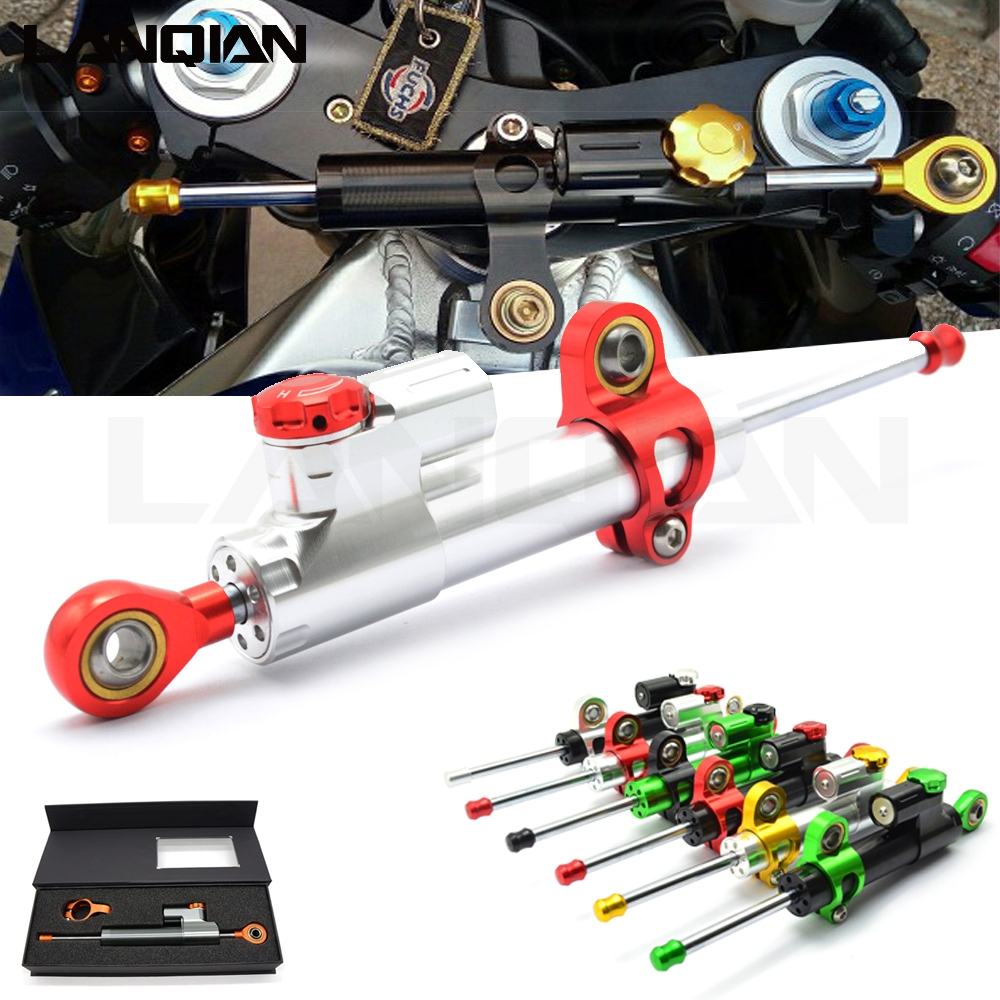 Universal Motorcycle Damper Steering Stabilize Safety Control For Ducati DIAVEL CARBON M1100 S EVO MONSTER MULTISTRADA