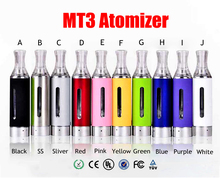 10pcs MT3 Atomizer EVOD BCC Clearomizer MT3 Atomizer 1.5ml Bottom Coil Tank Cartomizer Electronic Cigarettes Vaporizer tank