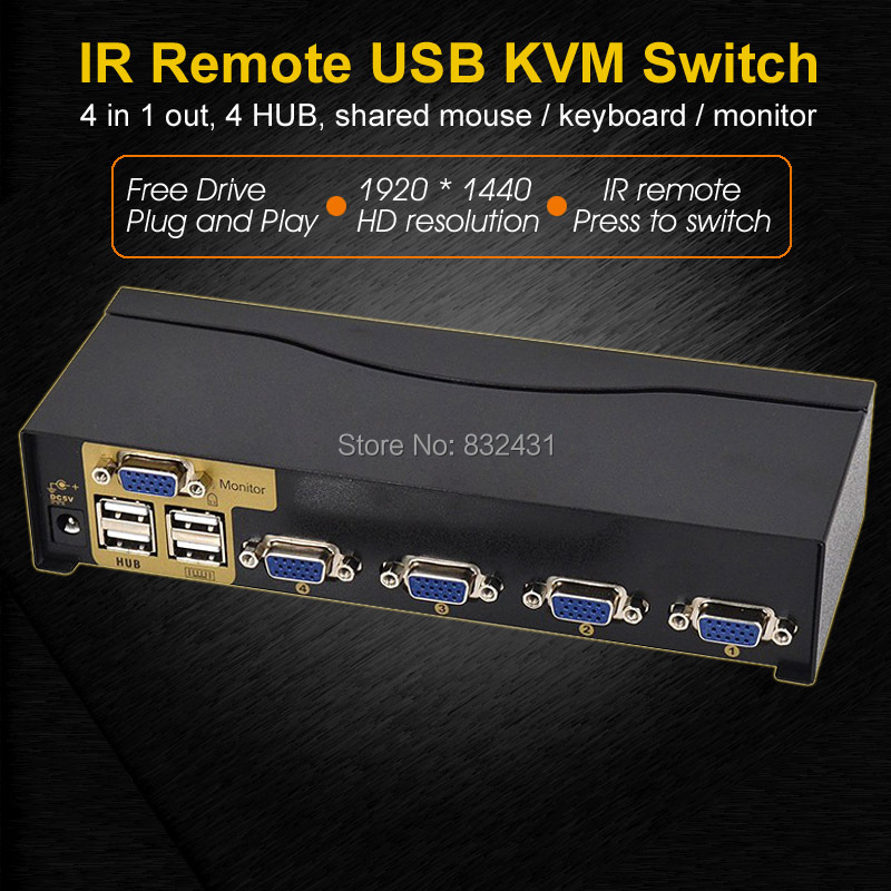 4 Port Smart USB KVM Switch 1