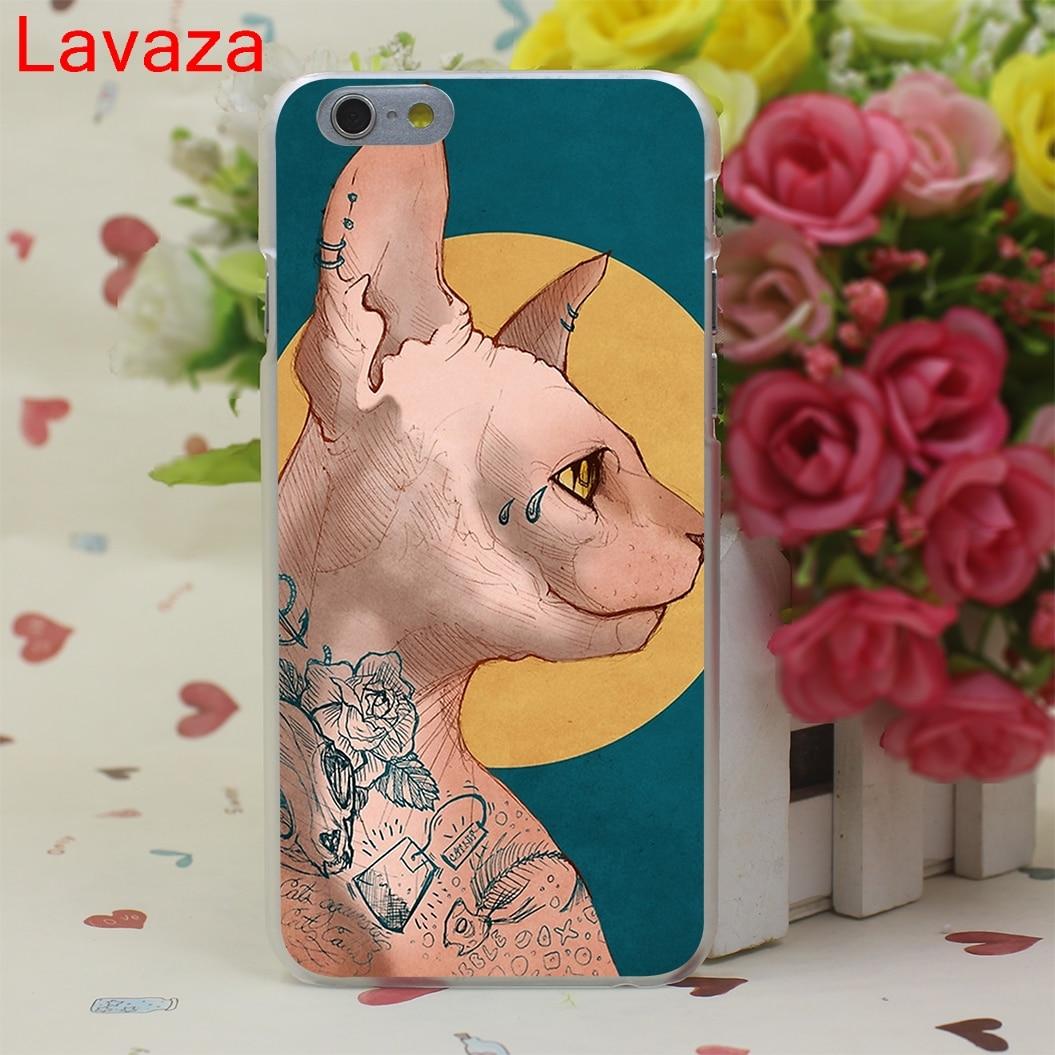 Lavaza Tatuaż Sfinks Kot Dysk Telefon Case Dla Iphone 6 6 S 7 8 Plus