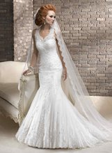 11-29 Sexy High Neckline Backless Lace With Beadeds Mermaid Wedding Dresses