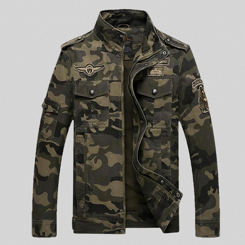 Men's Clothing Autumn Military Camouflage Jacket Men Winter Outwear Cotton Air Force Embroidery Army Pilot Jacket Men Tactical Windbreaker Coat Attractive Designs;