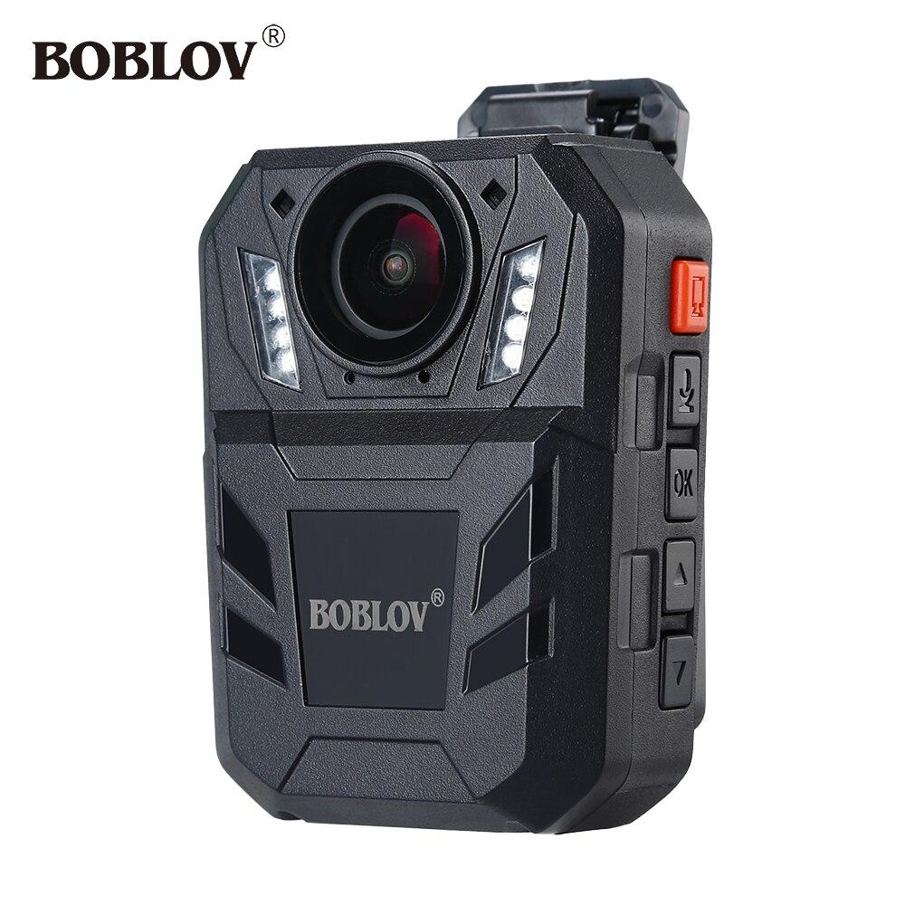 BOBLOV WA7-D Ambarella A7 32MP HD 1296 p Portable Corps Caméra de Sécurité Vidéo Enregistreur 4000 mah Batterie Avec Télécommande