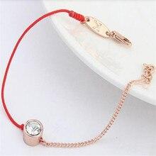 Fashion 1Pc Women Austrian Crystal Rhinestone Red String Threads Rope Bracelets Bangles Free Shipping