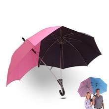 Творческий автоматический два человека зонтик большая площадь двойной любовника Пары Зонтик Мода Многофункциональный Ветрозащитный зонтик